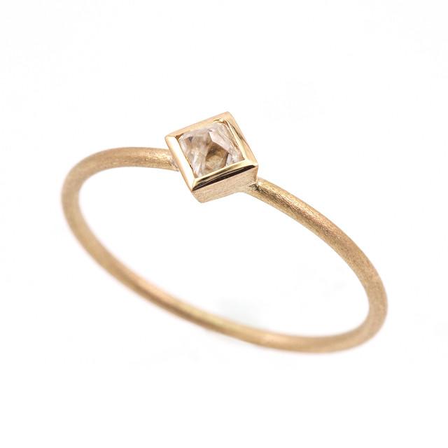 Diamond octahedron ring