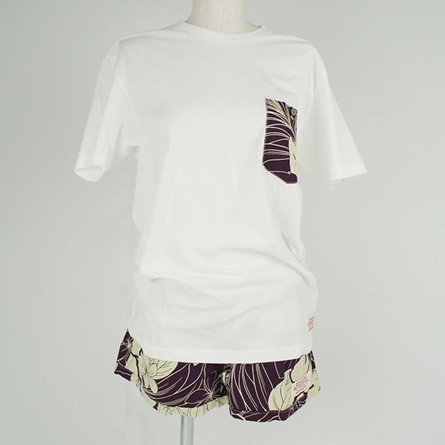 レディース Tシャツ&パンツセット エッグプラント(サイズS)/Wahine-PUA-NANI-W1050-2SET EGP S