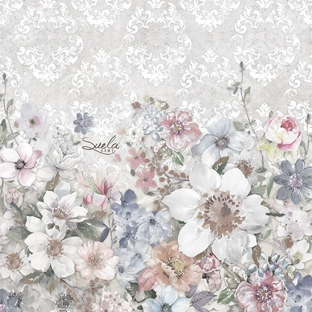 完売再入荷【Ambiente】バラ売り2枚 ランチサイズ ペーパーナプキン ROSA ホワイト