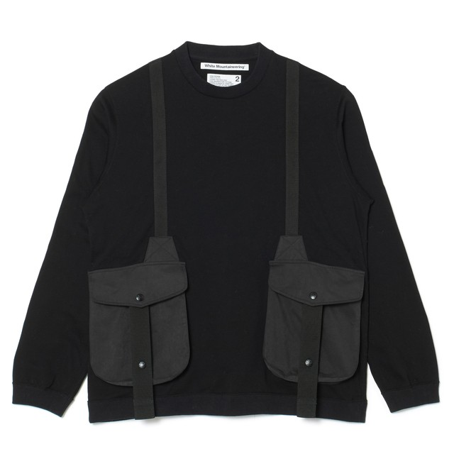 HUNTING POCKET TAPED SWEATSHIRT - BLACK