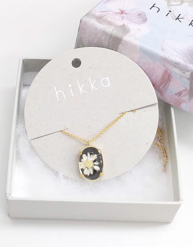【SALE70%OFF】本物のお花のアロマアクセサリーネックレス(ブラック)