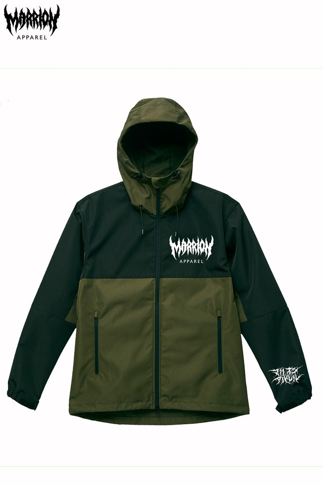 MARRION APPAREL LOGO シェルパーカー 2018  (Olive)