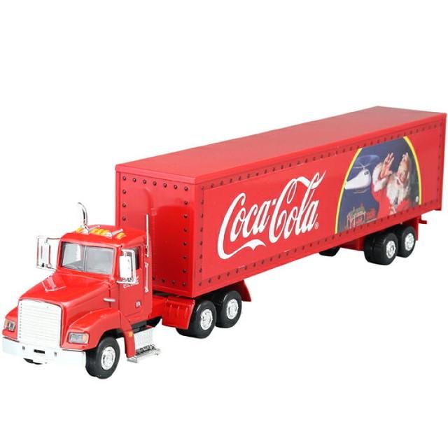 ステキなプレゼントを運んでくれそう! コカコーラ トラック 【送料無料】【Moter City Classics社製】コカ・コーラ グッズ ダイキャストミニカー ホリデーキャラバン 1/43スケールミニカー