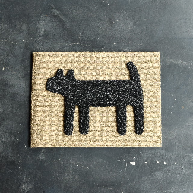"F/style DOGGY MAT ""HOUSE"" 玄関マット/犬用マット MIX BLACK"