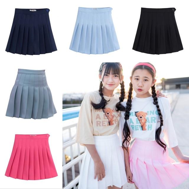 XS~2XL 7カラー ★ ミニ スカート プリーツスカート カラーバリエーション シンプルデザイン