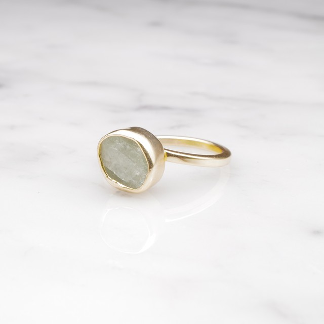 ROUGH STONE RING GOLD 010