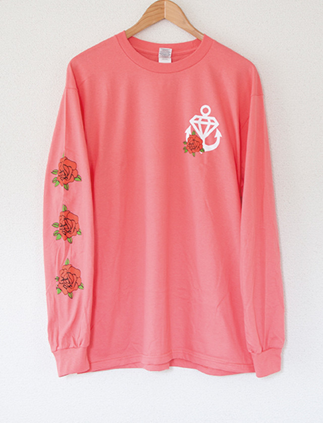 ※Restock【STAY SICK CLOTHING】Flower Long Sleeve (Coral Silk)
