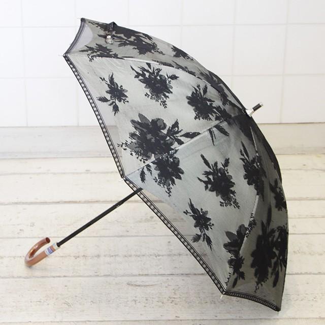JQDレース二重張り花柄スライドショート日傘