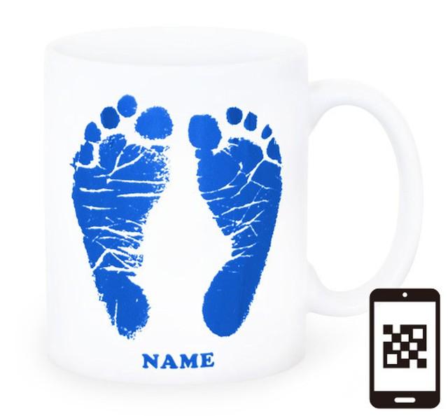 ai mug-white   A-type (BLUE) QRコード付き