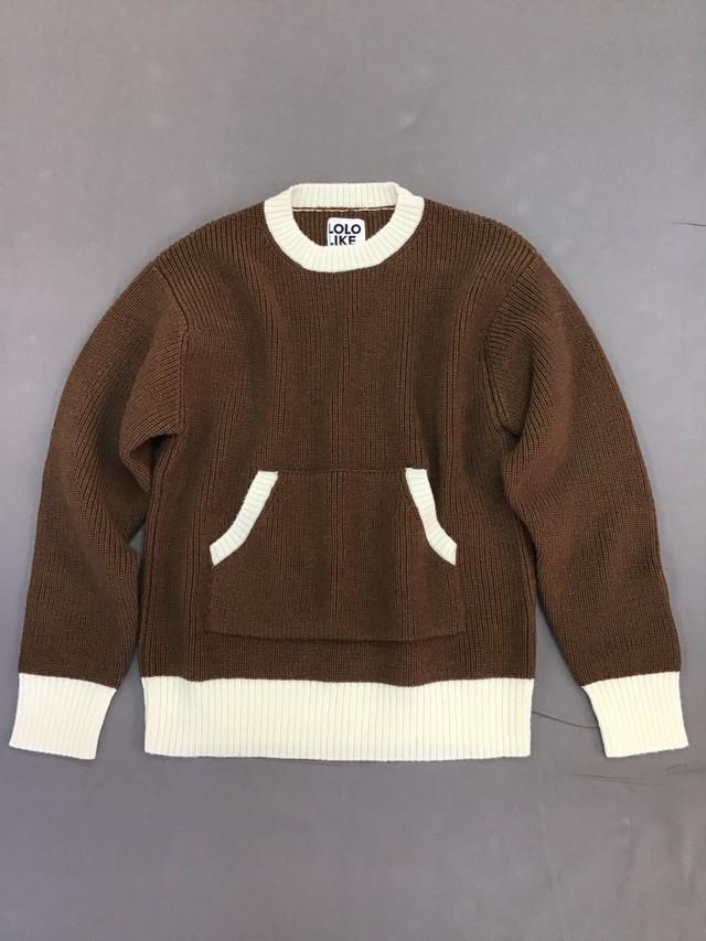 LOLO【ロロ】ポケット付きセーター mens/womens