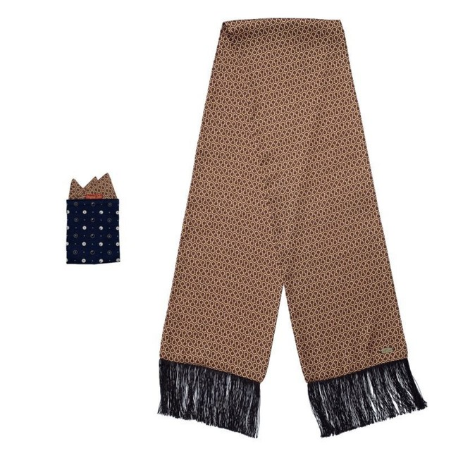Original John | HONEYCOMB SCARF & POCKET CHIEF [AC377]