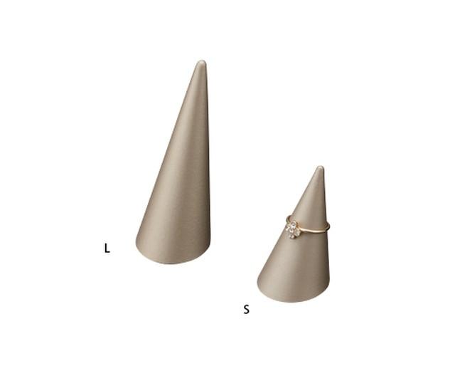 木製円錐リングスタンドSサイズ マット塗装シャンパン・ブロンズ 1115MP-S