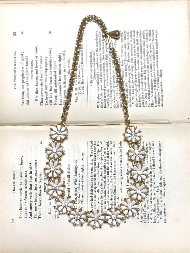 【Run Rabbit Run Vintage】White flower necklace