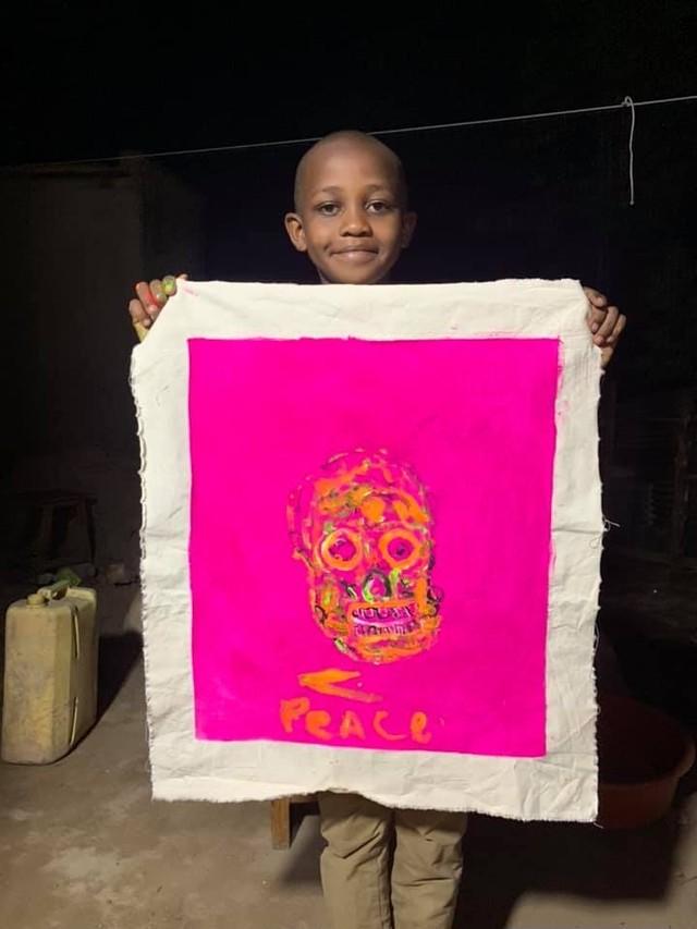 ルワンダの子供たちが描いたアートポストカード(10枚セット)