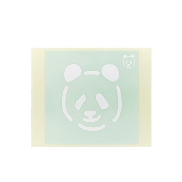 [テンプレートシール]  パンダ (10枚入)