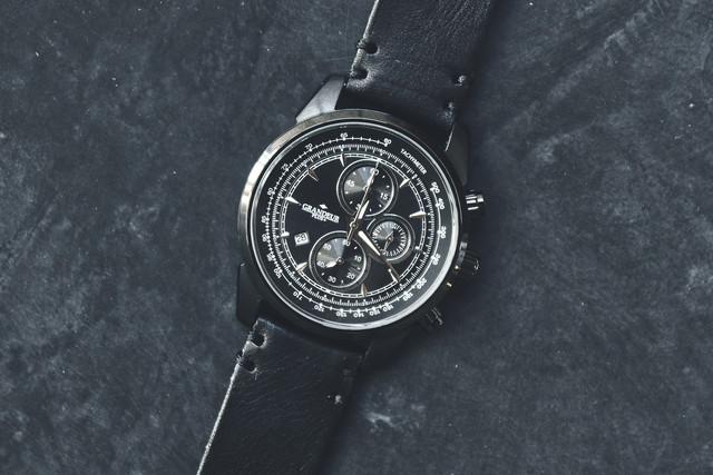【送料無料】GRANDEUR PLUS+GRP001B1 グランドールプラス メンズ腕時計 ウォッチ トリプルカレンダー 革ベルト ビンテージ アナログ GRANDEUR PLUS+ GRP001B1