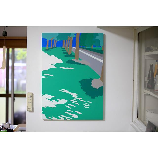 「その先の向こう側」acrylic on canvas 728×515×24mm