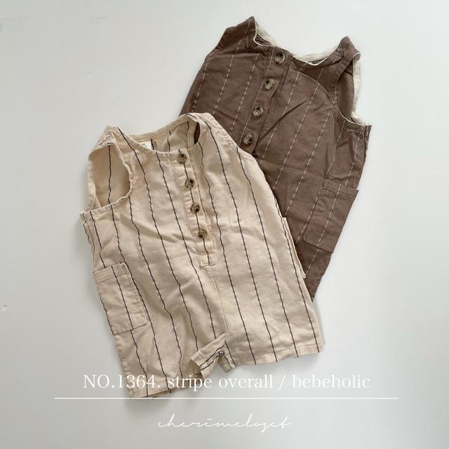NO.1364. stripe overall / bebeholic