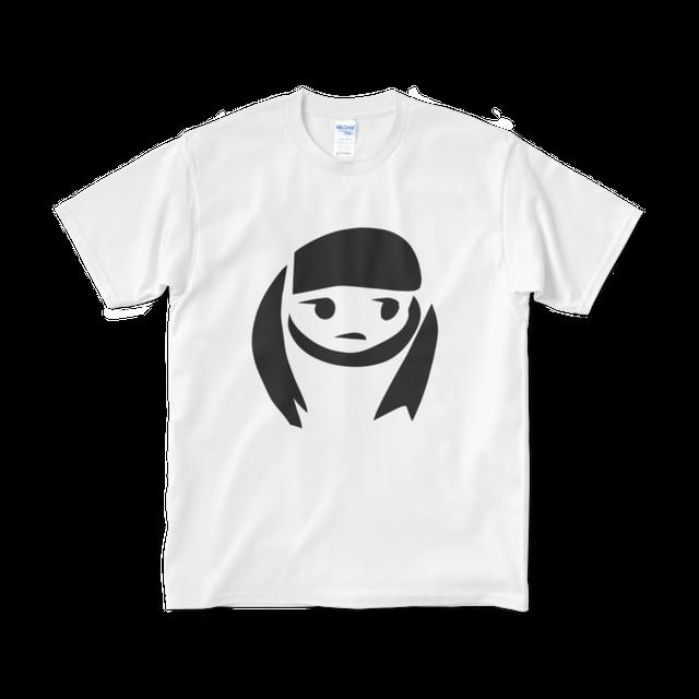 モノクロふきだし子/哀*Tシャツ(短納期)
