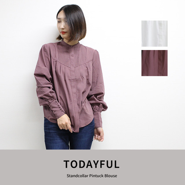 TODAYFUL | Standcollar Pintuck Blouse  11820406