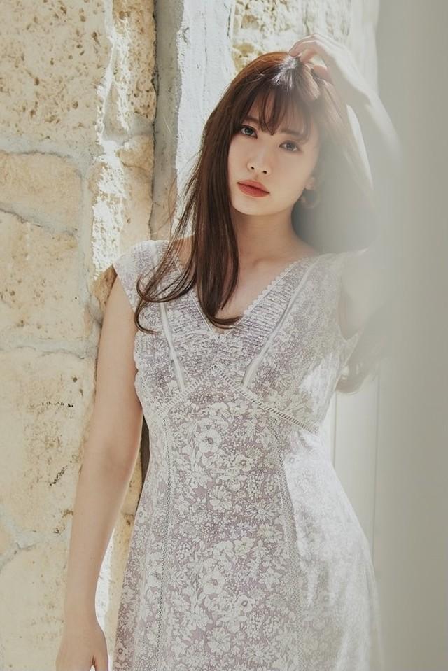 Lace Trimmed Floral Dress【新色】