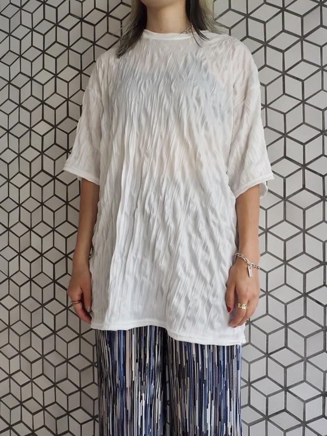 【UNISEX - 1 size】WRINKLE TEE / White
