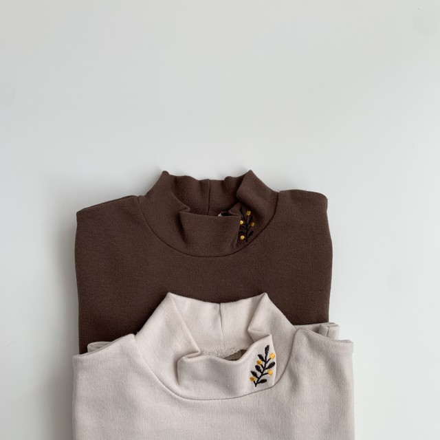 004. petit high neck / embroidery