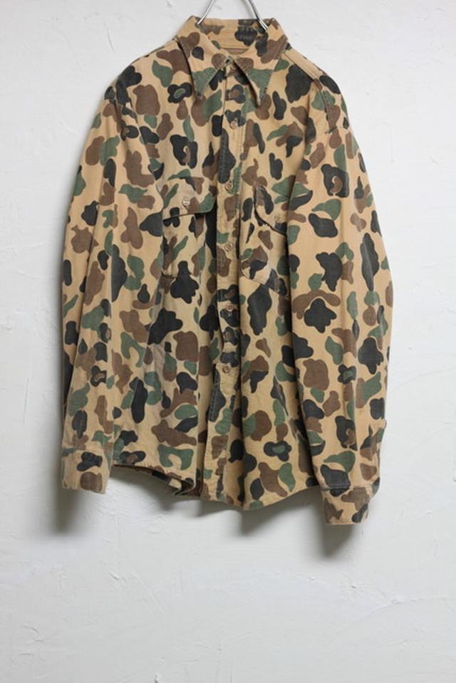 60~70's ダックハンターカモフラージュ シャツジャケット