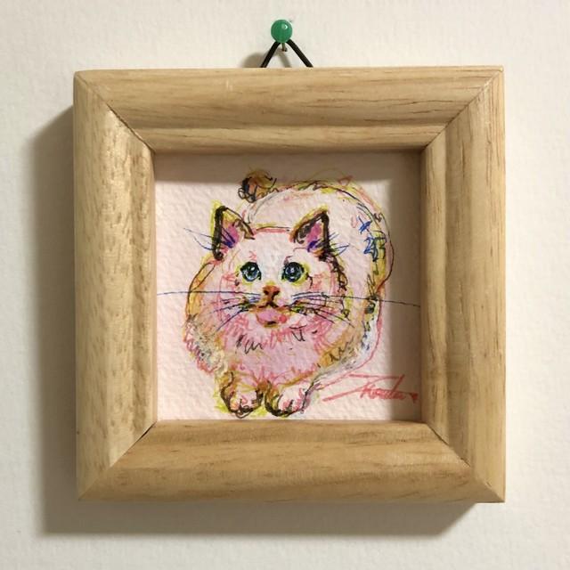 【お部屋でアート】おしゃれなネコ