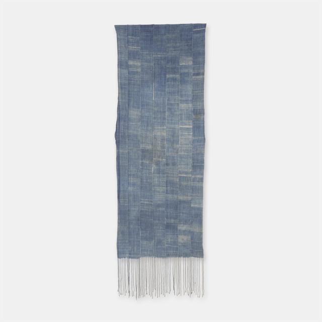 ブルキナファソ モシ族 ヴィンテージの藍染め布 古布 SLI004