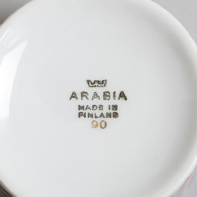 ARABIA アラビア Pajazzo パヤッツォ コーヒーカップ&ソーサー レッド 北欧ヴィンテージ