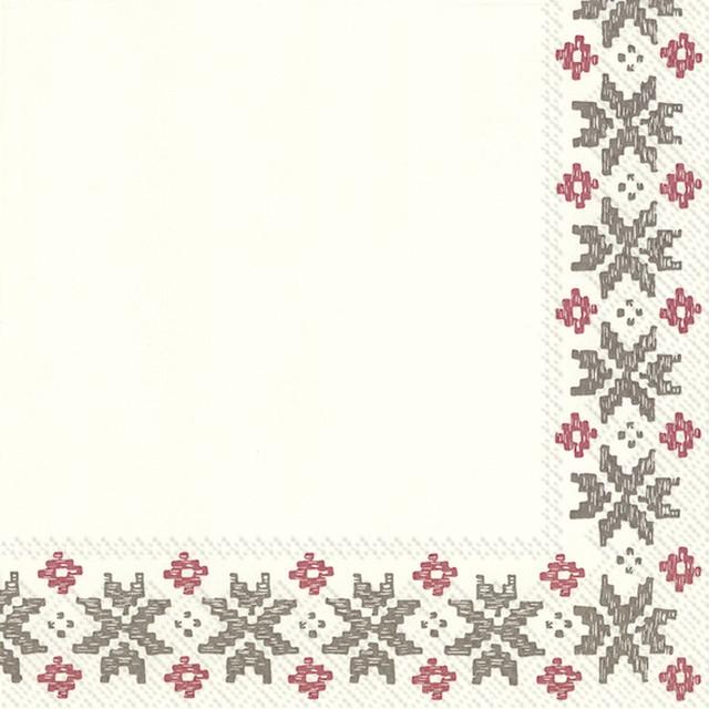 【Villeroy&Boch】バラ売り2枚 ランチサイズ ペーパーナプキン ARTESANO MONTAGNE ホワイト