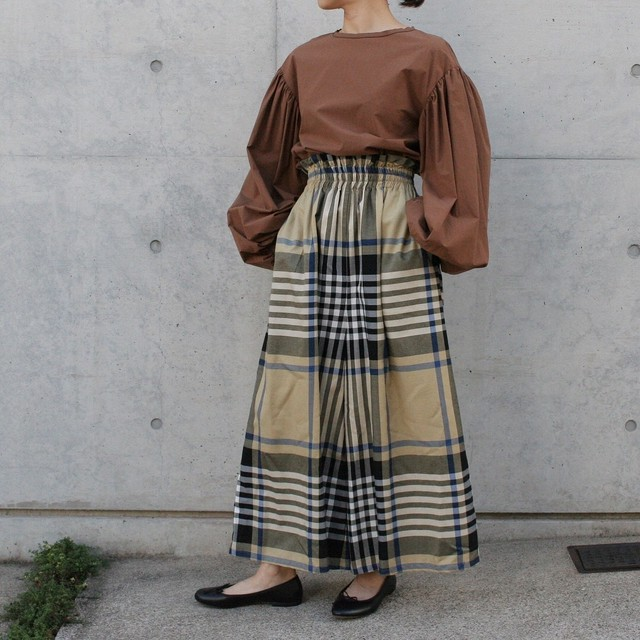 MANON / CHECK WIDE PANT
