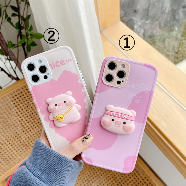 Cute 3D pig iphone case