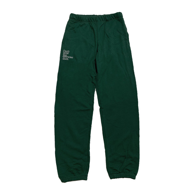 【Cat & Parfum】Don't wear like everyone does. Embroidery Logo Cotton Sweat Pants