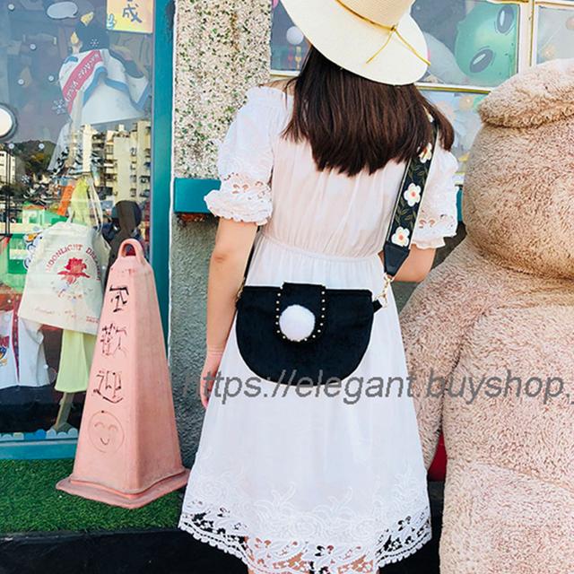 チャイナ風バッグ 手作りチェーン民族風 ベルベット チャイナドレスチャイナ風服と合わせやすい ブラック 黒い