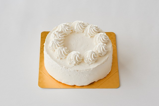 グルテンフリー&アレルギー対応 デコレーションケーキ ホワイト