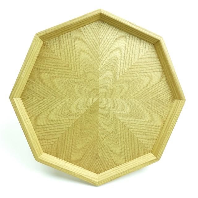 ホワイトアッシュ 八角形のトレー OBWA-0164