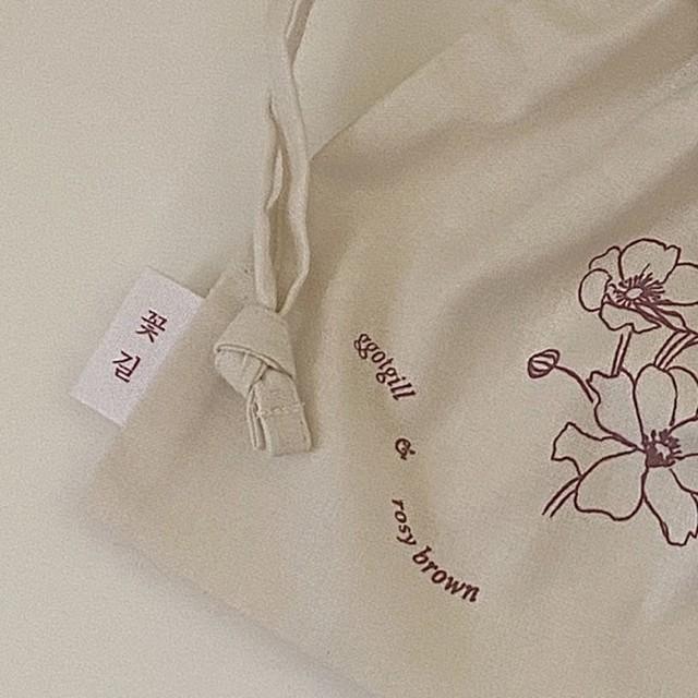 rosy brown × ggotgill original pouch(korean)
