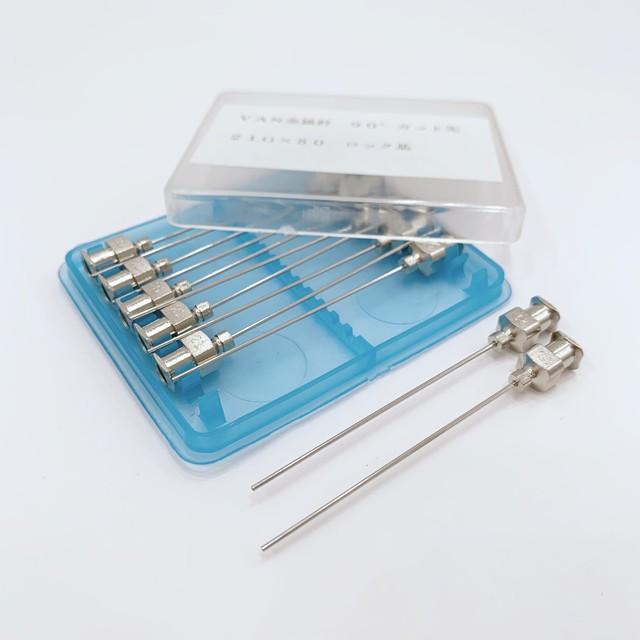 【工業・実験/研究用】 VAN金属針 90°カット先 21G×50 12本入(医療機器・医薬品ではありません)