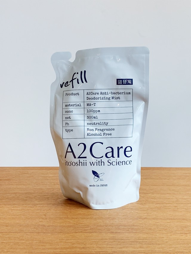 【A2care(エーツーケア)】 300ml 除菌消臭詰替リフィル