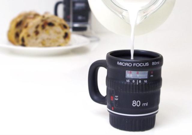 【カメラ好き必見】MICRO FOCUS  蓋付きエスプレッソマグ