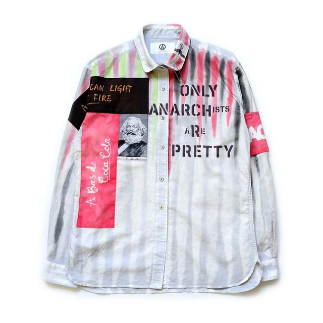 anarchy shirt 036 (white riot)
