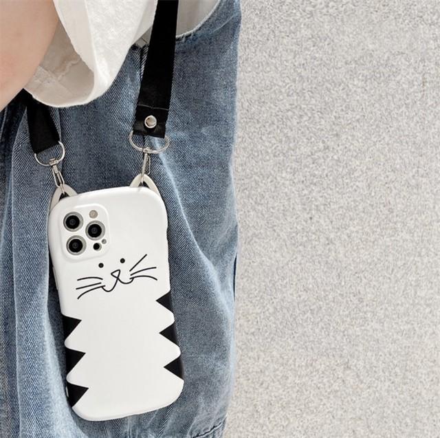 ストラップ付き♪ NEKOさん iphone case