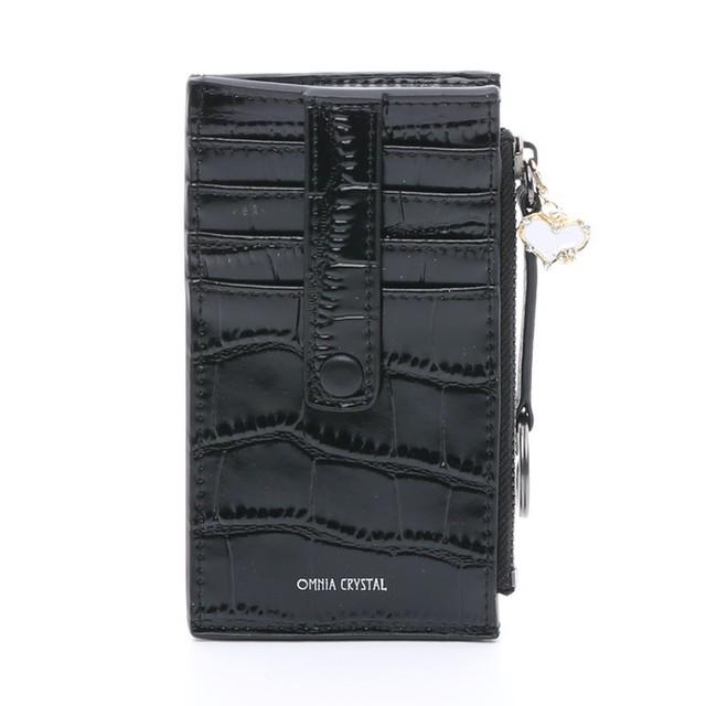 [SALE] 4350円→3480円 OMNIA オムニア ミラー付き カードケース 小銭ケース パスケース