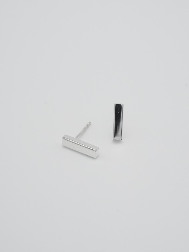 long bar pierce silver small