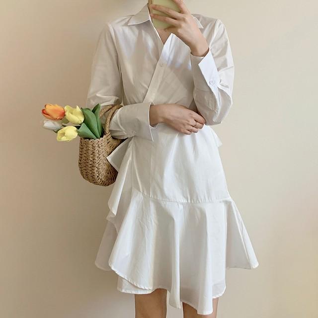韓国ファッション ロングワンピース SHD432701