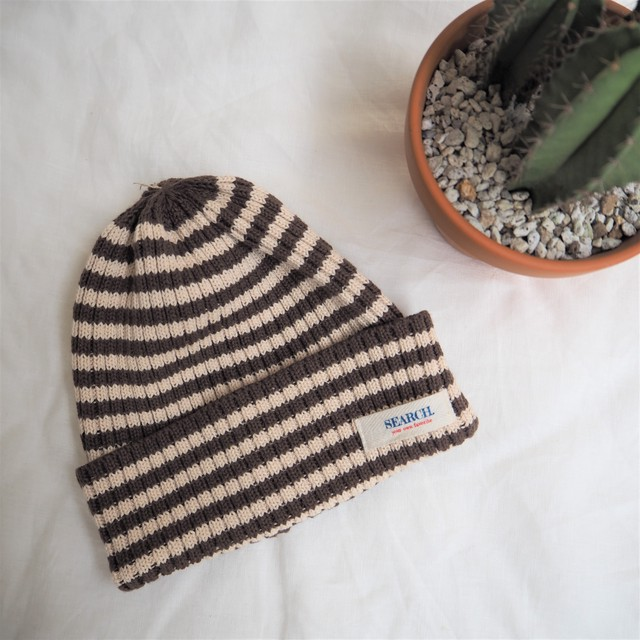 SEARCH. Knit Cap 《WHITE&BROWN》17380761