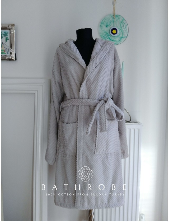 Denizli cotton Baby Bathrobe Rabit Cream デニズリコットン ベビーサイズバスローブ ラビットクリーム