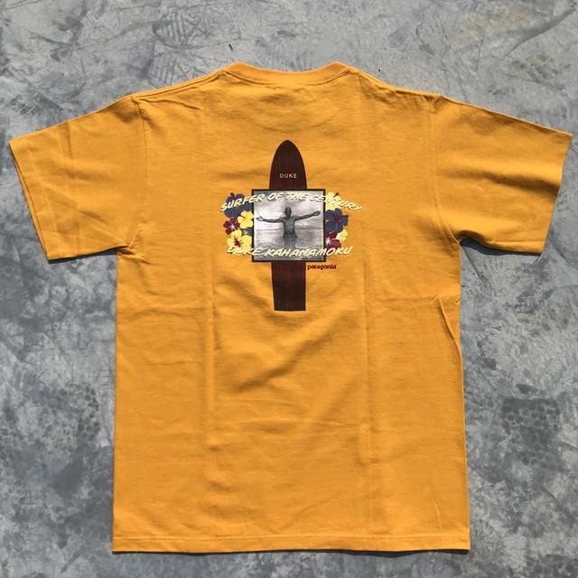 00's patagonia パタゴニア DUKE KAHANAMOKU プリントTシャツ NOS オーガニックコットン 未使用 デッドストック 02年 S 希少 ヴィンテージ